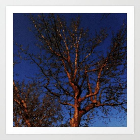 Tree of Colour: Blue Version Art Print