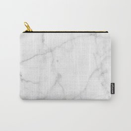 Pure Solid White Marble Stone All Over Carry-All Pouch