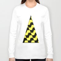 yellow pattern Long Sleeve T-shirts featuring Yellow and black pattern by LoRo  Art & Pictures