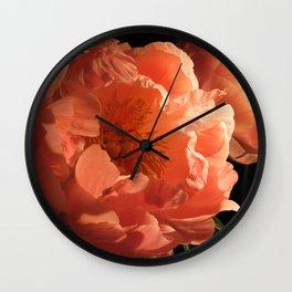 Two Peonies 1 Wall Clock