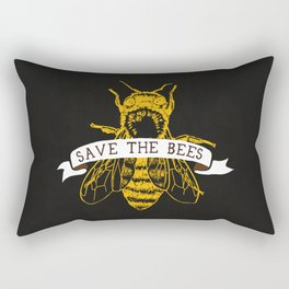 Save The Bees (Dark) Rectangular Pillow