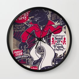 The Black Panther Party Wall Clock