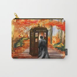 TARDIS DOCTOR WHO PAINTING Carry-All Pouch