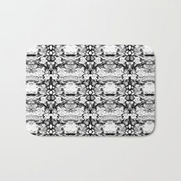 Modern Bohemian Black and White Pattern Bath Mat