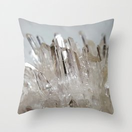 Quartz crystal Throw Pillow