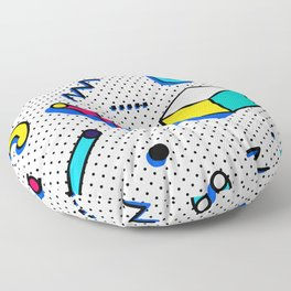Patern in memphis, pop art style Floor Pillow