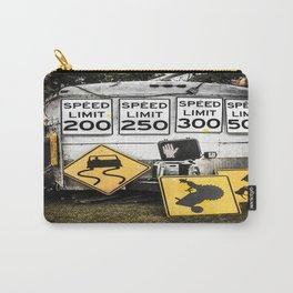 Speed Limit Ahead Carry-All Pouch
