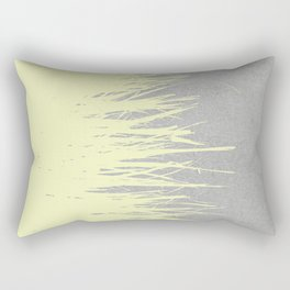 Concrete Fringe Yellow Rectangular Pillow