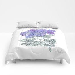 Hydrangea 01 Botanical Flower * Lavender Blue Hydrangea Comforters