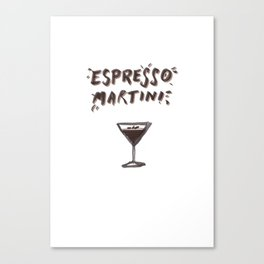 Espresso Martini Canvas Print
