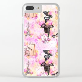 Fashion and Paris #4 Clear iPhone Case