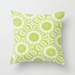 Botanic Mandala Repeat Throw Pillow