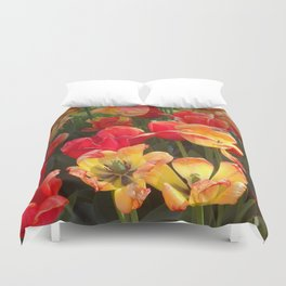Theory of Tulips Duvet Cover