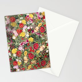 Maximalist Shabby Chic Lush Floral Stationery Cards