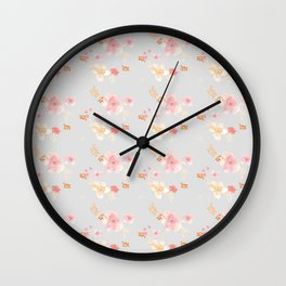 Hygge Floral Wall Clock