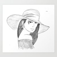 Death in a floppy hat Art Print