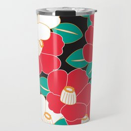Shades of Tsubaki - Red & Black Travel Mug