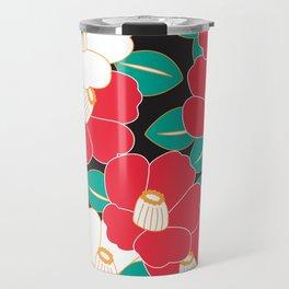 Shades of Tsubaki - Red & Black Travel Mug