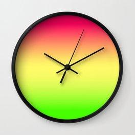 Neon Ombre Wall Clock