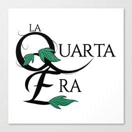LaQuartaEra_White Canvas Print