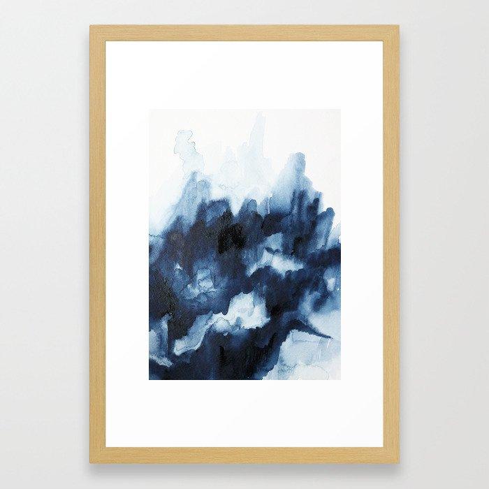 Indigo watercolor 2 Framed Art Print by jenmerli | Society6