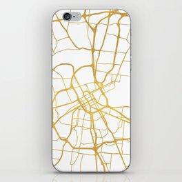 NASHVILLE TENNESSEE CITY STREET MAP ART iPhone Skin