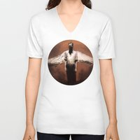 religion V-neck T-shirts featuring Losing My Religion by Zombie Rust