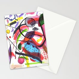 The Hot Mess Composition VIII Ripoff Stationery Cards