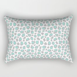 Leopard Animal Print Aqua Blue Gray Grey Spots Rectangular Pillow
