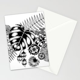 Tropical Leaves and Flowers Stationery Cards