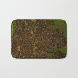 Bangalore old green map Bath Mat