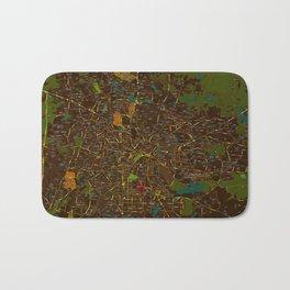 Bangalore old green map Bath Mat