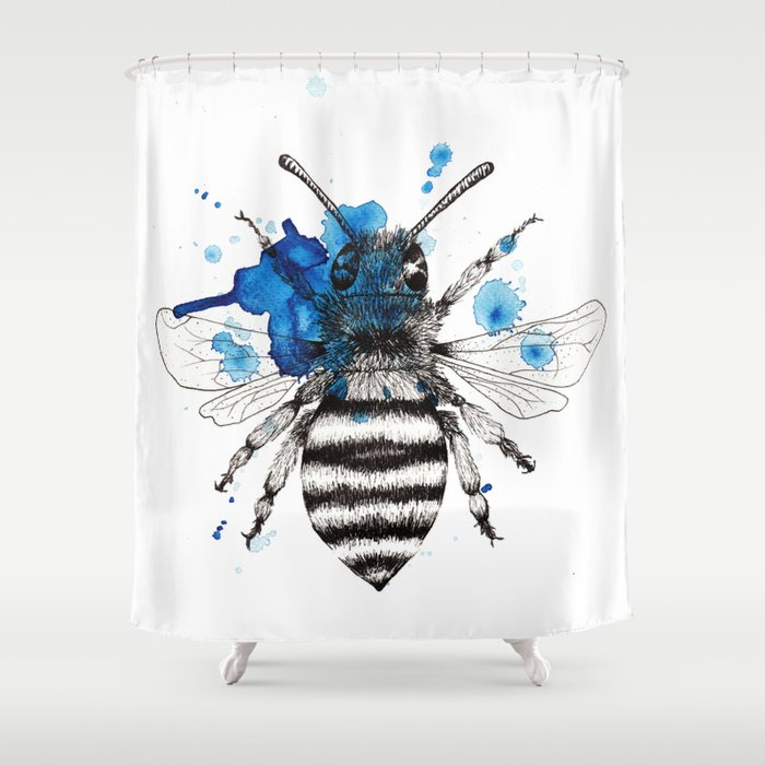 Bumble Bee Shower Curtain By Bridgetdavidson