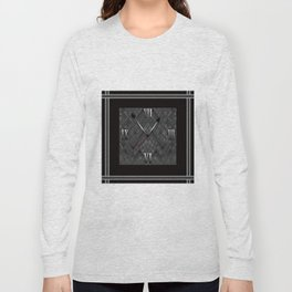 Watch. Black and white pattern . Long Sleeve T-shirt