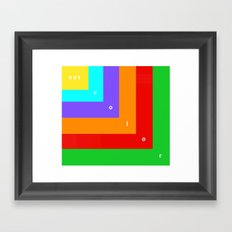 Eat Color Framed Art Print