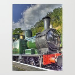 Steam Train at Bewdley Poster