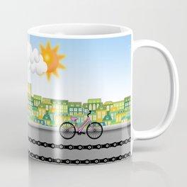 Biking through the City Coffee Mug