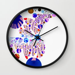 Fractal Balls Out Wall Clock