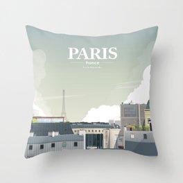 Alone In Paris - Paris s'éveille (Paris wake up) Throw Pillow