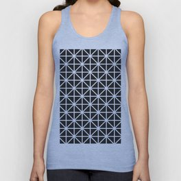 Minimal Black + White Pattern Unisex Tank Top