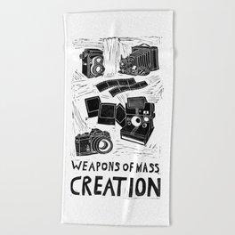 Weapons Of Mass Creation - Photography (blockprint) Beach Towel
