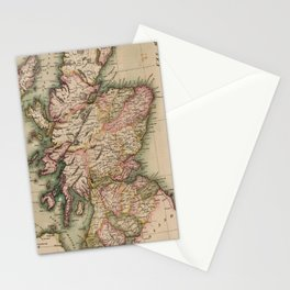 Vintage Map of Scotland (1814) Stationery Cards