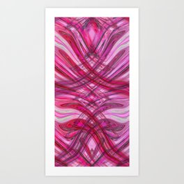 Frenetic Ribbons of Candied Glass Art Print