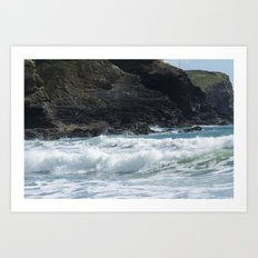 White Surf Art Print