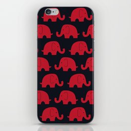 Elephants Red iPhone Skin