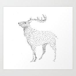 Deer dots Art Print