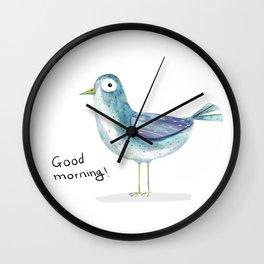 morning bird Wall Clock