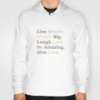 calendars Hoodies featuring Inspiration Typography Quote Words Pastel  by Shabby Studios Design & Illustrations ..
