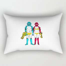 Mr. and Mrs. Storm Rectangular Pillow