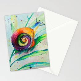 Snail Oilpainting Stationery Cards